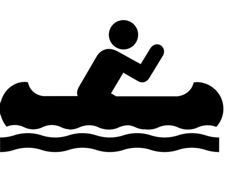 canoes vector canoe sign symbol 183 free vector graphic on pixabay