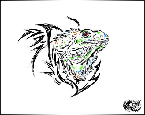 iguana tattoo iguana by alart90 on deviantart