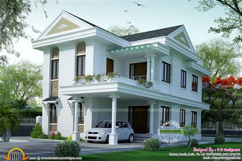 small dream home plans small double floor dream home design kerala home design