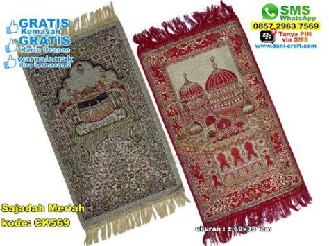 Sajadah Murah Sajadah Benang Prada Oleh Oleh Haji Dan Umrah J954 sajadah turki souvenir pernikahan