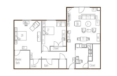 floor plan and furniture placement more than moving