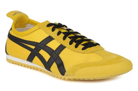 Po Onitsuka Tiger Mexico 66 Leather Yellow Green onitsuka tiger mexico 66 dx m trainers in yellow at sarenza co uk 55894