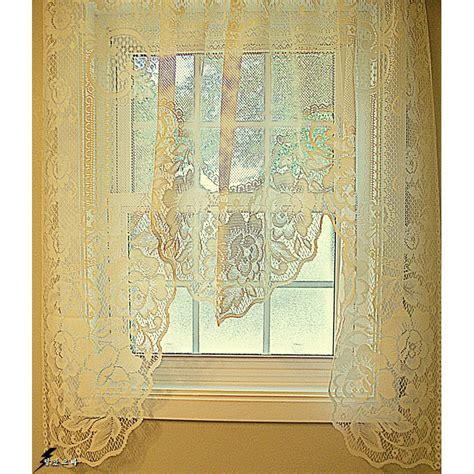 victorian lace curtains on sale curtains victorian rose 60x48 one piece ivory swag