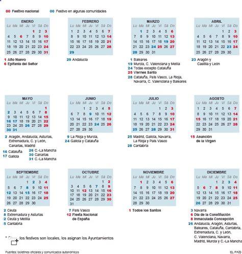 Calendario Laboral 2016 Por Semanas El Calendario Laboral Y Los Festivos De 2016 Recursos