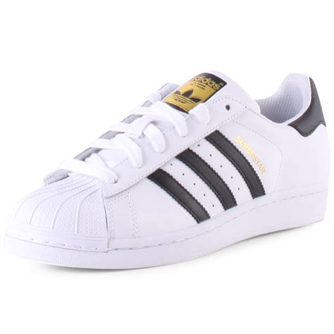 adidas white shoes adidas originals superstar j trainers white black new