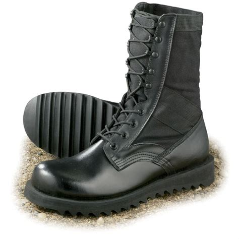 s jungle boots mil spec u s style ripple sole jungle boots black