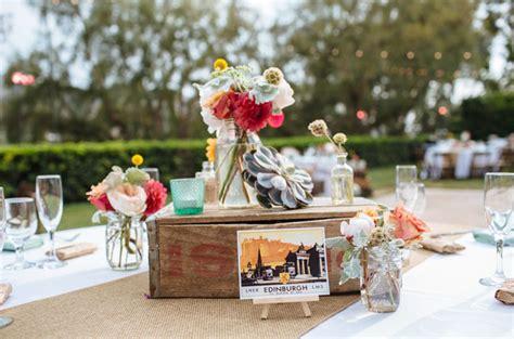 vintage travel themed wedding