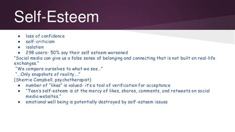 thesis about social media and self esteem social media s effect on our well being