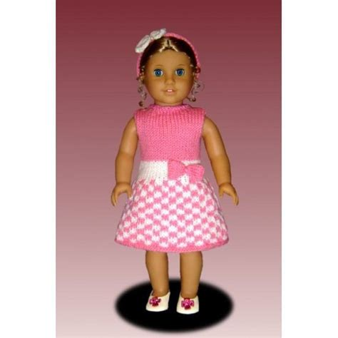 18 inch doll clothes knitting patterns doll dress knitting pattern 18 inch american doll