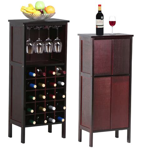 home wine storage wood wine cabinet bottle holder storage kitchen home bar