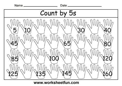 Skip Counting Worksheets Free by Count By 5s 2 Worksheets Free Printable Worksheets
