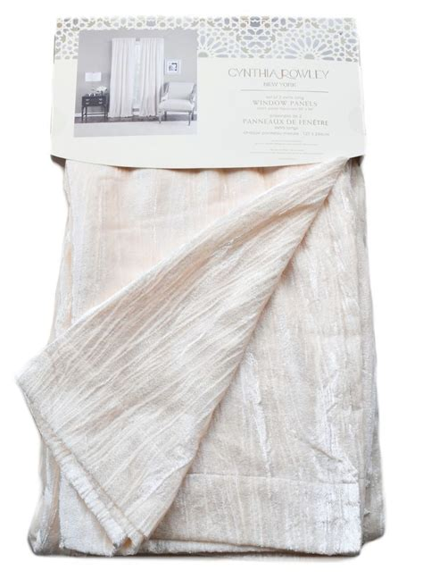 cynthia rowley curtain panels details about cynthia rowley cream ivory velvet pair