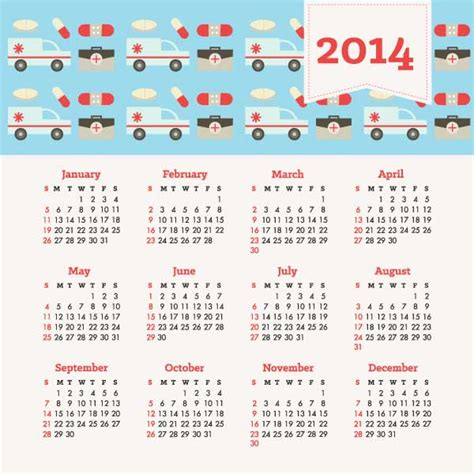 template for calendar 2014 10 free vector 2014 calendar templates creative beacon