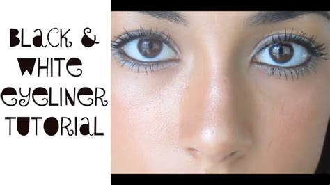 tutorial eyeliner white cool black white eyeliner tutorial youtube
