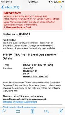 Precheck Background Check Status Tsa Precheck 174 Status And The Enrollment Process