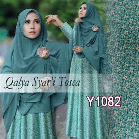 Jilbab Pricilla Sifon Non Pad baju gamis bergo qalya bunga y1082 maxi dress muslim