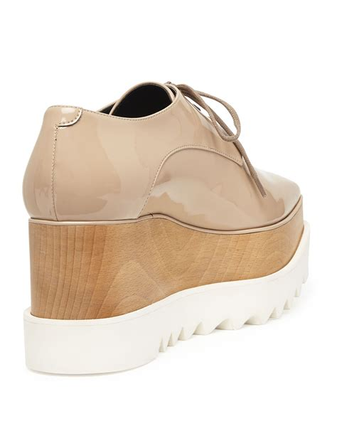 oxford wedge shoes stella mccartney leather platform oxford in lyst