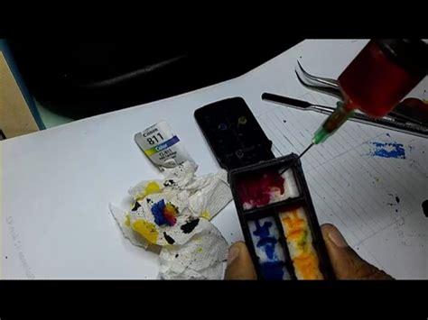 Tinta Data Print Canon Ip2770 cara mengisi tinta warna 811 pada printer canon pixma ip2770 dengan cara membongkar kasing