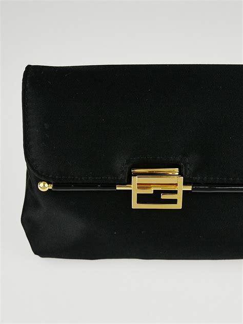 Fendi Clutch Black fendi black satin clutch bag yoogi s closet
