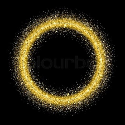 New Home Gift by Gold Glitter Background Gold Sparkle Circle Template For