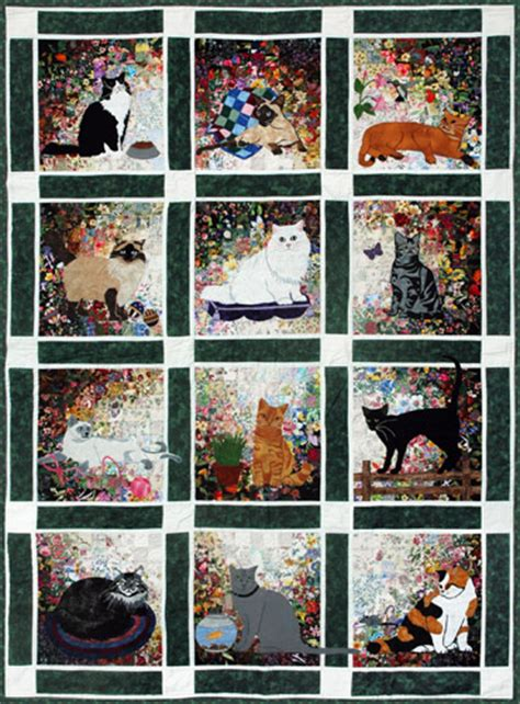 Cat Quilt Kits by S Cat Garden Watercolor Quilt Kit At Everything Quilts