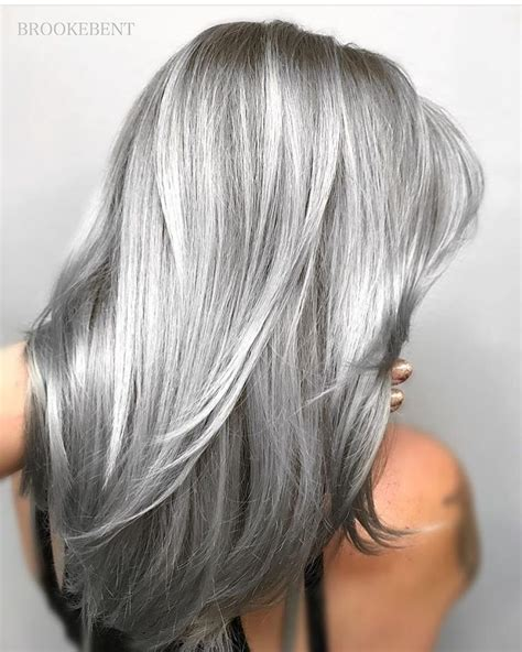 silver gray hair color silver gray hair hairdare silvercrown