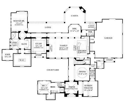 hidden room floor plans house plan 61824 at familyhomeplans com