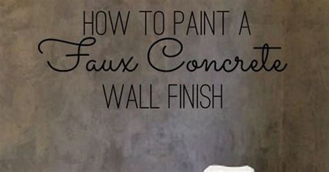 how to faux paint a wall diy home decor how to paint a faux concrete wall finish