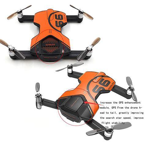 Drone Wingsland S6 wingsland s6 pocket selfie drone fpv 4k uhd gps obstacle avoidance allwood courier