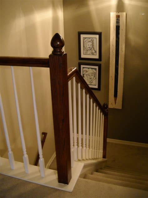 dark wood banister remodelaholic top ten stair makeovers and link party