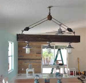 Nautical Themed Dining Room - atomic pendants flavor remodeled beach home with nautical style blog barnlightelectric com