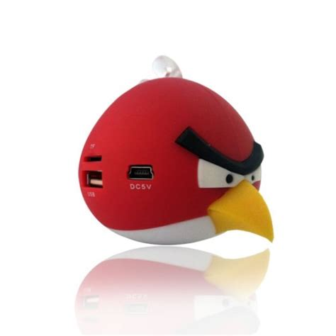 Plush Card Reader Speaker Yellow Angry Birds Mini Speaker speakers angry birds rechargeable speaker fm radio usb mp3 player micro sd mp3 player