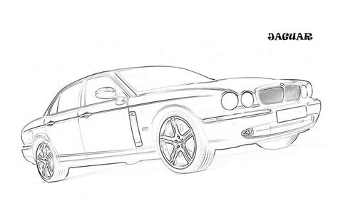 luxury car drawing colouring pages