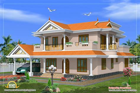 beautiful 2 storey house design 2490 sq ft indian
