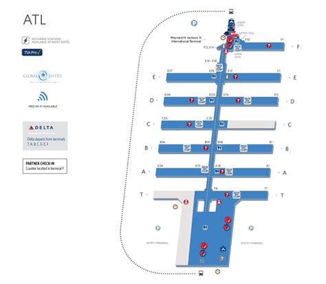 layout of atlanta airport atlanta airline terminal map pictures to pin on pinterest