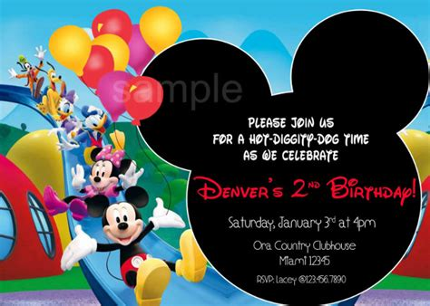 mickey mouse clubhouse invitation template free mickey mouse birthday invitation template 15 free psd