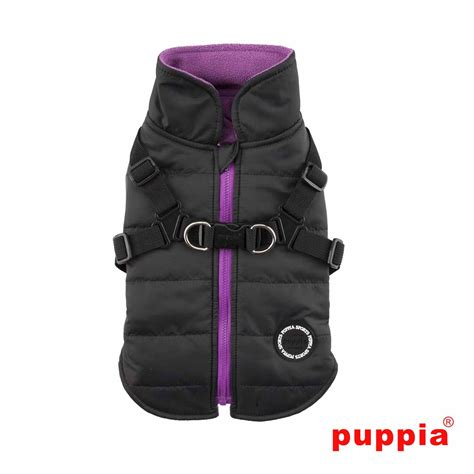 coat harness mountaineer harness coat by puppia black baxterboo