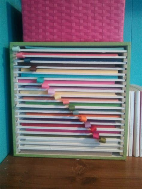 Craft Paper Storage - 25 best ideas about scrapbook paper storage on