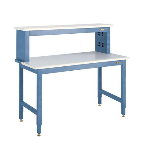 iac benches iac heavy duty steel workbench w instrument shelf b6 30 36 quot x 48 96 quot equipmax
