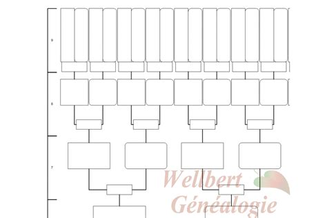 printable 9 generation family tree family tree chart 9 generations printable empty to fill in