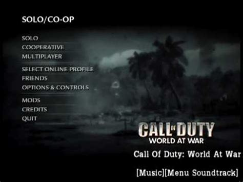 theme music world at war call of duty world at war music menu soundtrack youtube