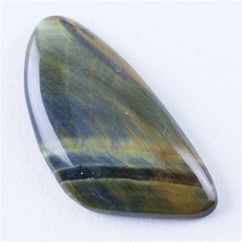 hawk s eye gemstone freeform cabochon 20mm x 39mm cool