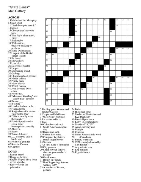 printable crossword puzzles easy to medium matt gaffney s weekly crossword contest september 2011