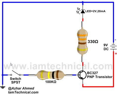 pnp transistor as switch circuit pnp transistor bc327 as a switch iamtechnical