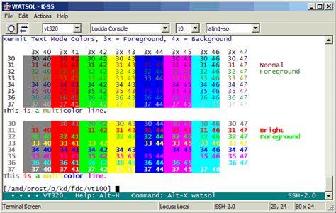 columbia color kermit 95 screen