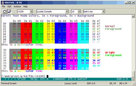 columbia colors kermit 95 screen