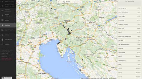 web locations location location location expense location web app