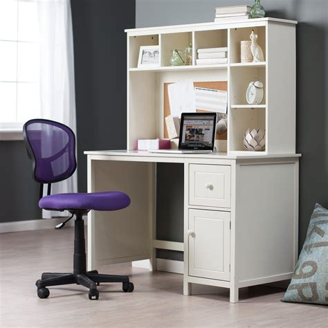 White Student Desk With Hutch To It Piper Desk With Optional Hutch Set Vanilla 199 99 Hayneedle Desk