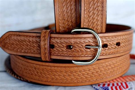 Handmade Leather Tool Belt - tackrus handmade basket weave tool heavy duty western