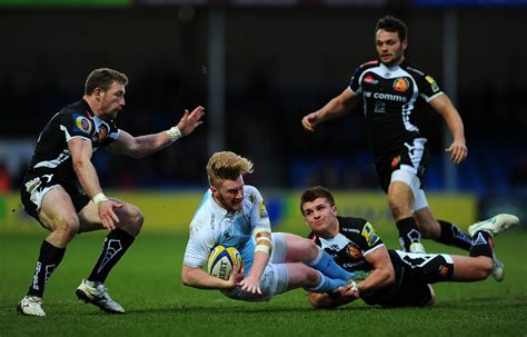 Gamis Catetrik henry slade pictures exeter chiefs v newcastle falcons